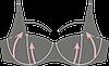 Бюстгальтер KLEO ROSY с уплотненными чашками, фото 7