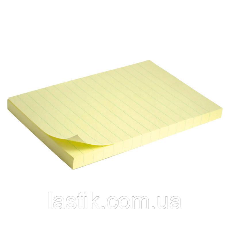 Блок паперу з липким шаром 100x150 мм, 100 л., лін.