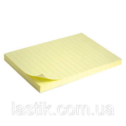 Блок паперу з липким шаром 100x150 мм, 100 л., лін., фото 2