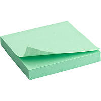 Блок бумаги с липким слоем 75x75 мм, 100 л., зел