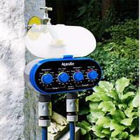 Автоматический таймер полива, подачи воды на 2 линии с шаровыми клапанами Aqualin