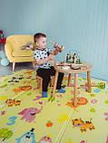 В комплекте с чехлом! Двухсторонний складной ПВХ коврик (Зоопарк-Ростомер )1,5м на 2м, фото 6