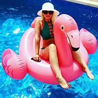 Надувной плотик для катания Intex 57558 «Фламинго», 147 х 140 х 94 см