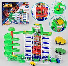 """Детский игровой гараж """"Мега парковка"""" 4 машинки с лифтом, аксессуары,  TK 922"""