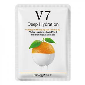 Тканевая витаминная маска для лица BIOAQUA V7 Deep Hydration Апельсин
