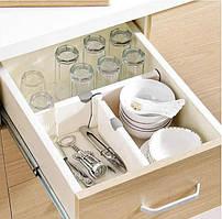 Висувний кухонний Органайзер Drawer Dividers keeps items organized