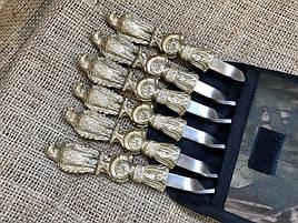"""Шампура подарочные с бронзовыми ручками """"Смелый ястреб"""" в тканевом чехле"""