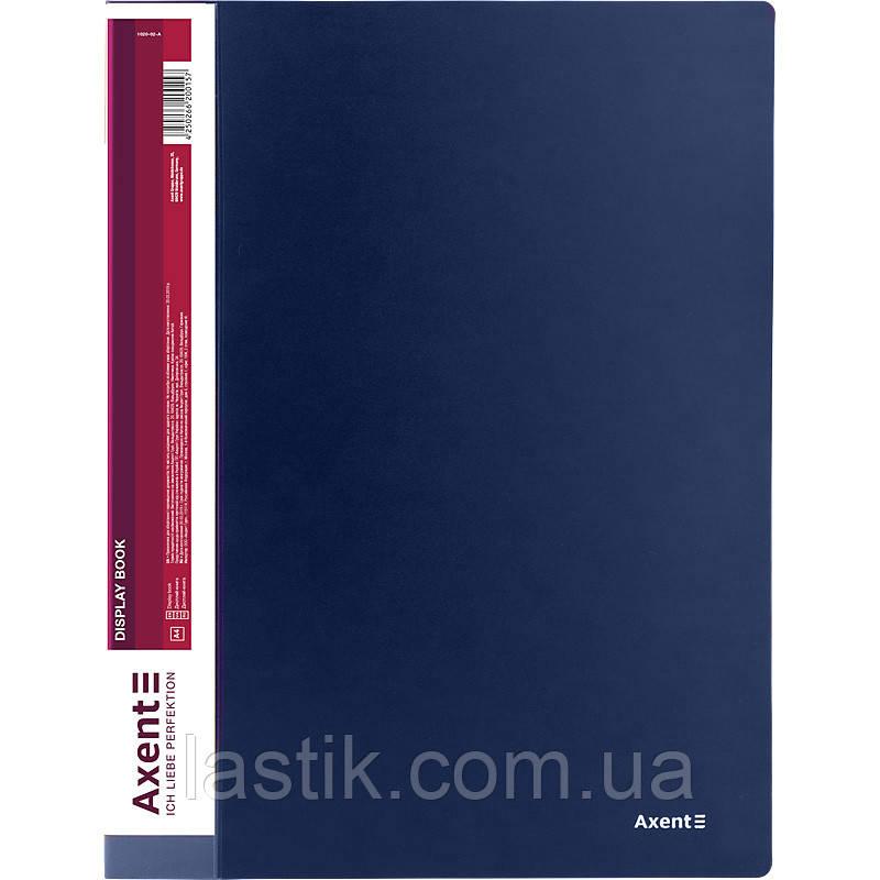 Дисплей-книга 20 файлов, синяя
