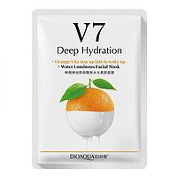 Тканинна вітамінна маска для обличчя BIOAQUA V7 Deep Hydration Апельсин