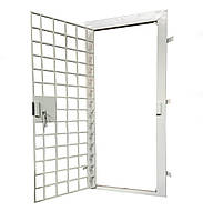 Двері металеві гратчасті