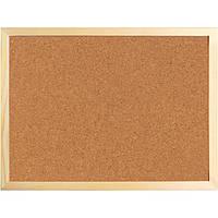 Доска пробковая, 60х90 см., деревянная рамка