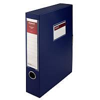 Папка-коробка, 60 мм, синяя