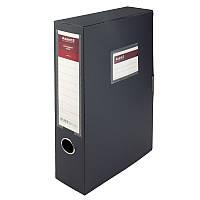 Папка-коробка, 60 мм, серая