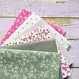 Набор хлопковой ткани для рукоделия 6шт., фото 2