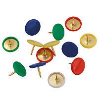 Кнопки цветные, 100 шт., пласт покрыт, пласт конт