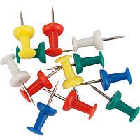 Кнопки-гвоздики кольорові, 50шт, пласт контейнер