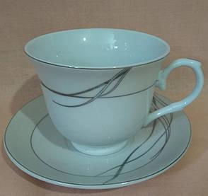 Набір чайний на металевій підставці - 2 чашки і 2 блюдця, фото 2