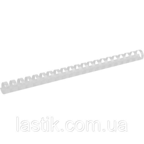 Пружина пластиковая d 19 мм, белая, 100 шт.