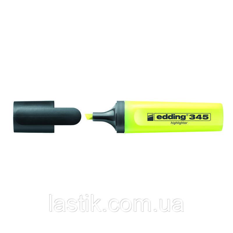 Маркер Highlighter e-345 2-5 мм клиновидный жёлтый