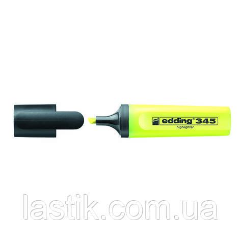 Маркер Highlighter e-345 2-5 мм клиновидный жёлтый, фото 2