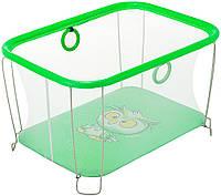 Манеж Qvatro Солнышко-02, мелкая сетка, зеленый (owl) 624978