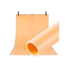 Фотофон вініловий (фон для фото предметної зйомки, помаранчевий 120×200 см, ПВХ)