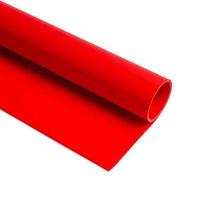 Фотофон вініловий двусторонний (фон для фото предметної зйомки, червоний 0.68×130 см, ПВХ)