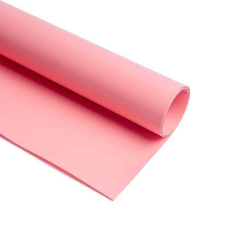Фотофон вініловий двусторонний (фон для фото предметної зйомки, рожевий 0.68×130 см, ПВХ)