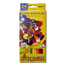 Олівці кольорові MARCO 24 кольору №1011-24CB Пегашка