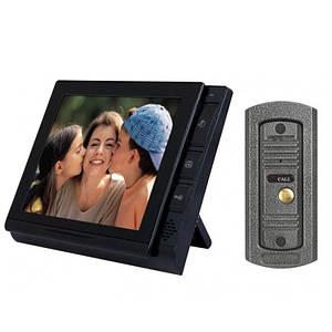 Відеодомофон кольоровий Luxury 806 r2 з пам'яттю, Комплект домофонів на 2 камери для приватного будинку,