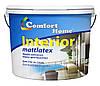 """Краска стойкая к мытью """"Interior"""" белая матовая 1.2 кг Комфорт"""
