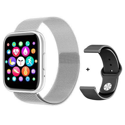 Фітнес браслет трекер Smart Band T99S Розумні спортивні смарт годинник з мікрофоном для здоров'я вологозахист, фото 2