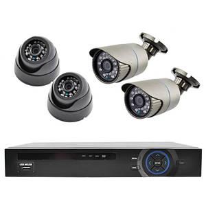 Відеореєстратор на 4 камери KN7904DP Стаціонарне HD пристрій IP відеоспостереження для камер Відео охорона