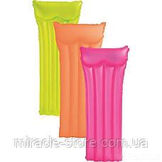 Пляжний надувний матрац для плавання Intex 59717 Neon Frost Air Mats (183х76 см) Інтекс, фото 2