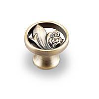 Мебельная ручка-кнопка Kerron, атласная бронза