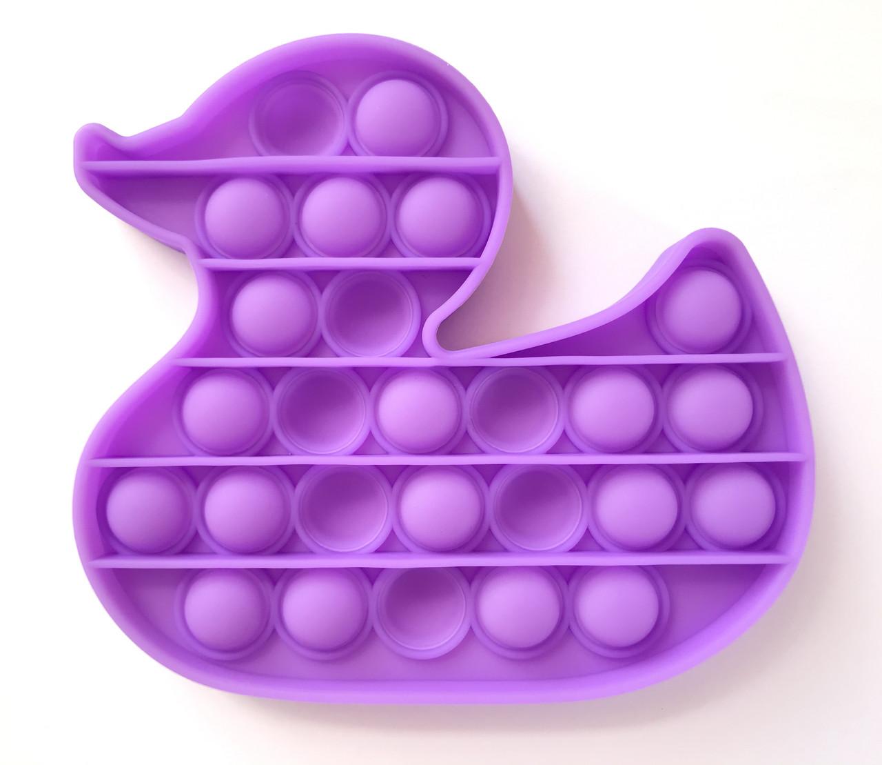 Pop It сенсорная игрушка, пупырка, поп ит антистресс, pop it fidget, попит, фиолетовая уточка
