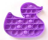 Pop It сенсорная игрушка, пупырка, поп ит антистресс, pop it fidget, попит, фиолетовая уточка, фото 2