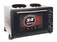 Электропечь с плитой MPM MPE-04T 34л.