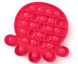 Pop It сенсорная игрушка, пупырка, поп ит антистресс, pop it fidget, попит, малиновый осьминог, фото 2