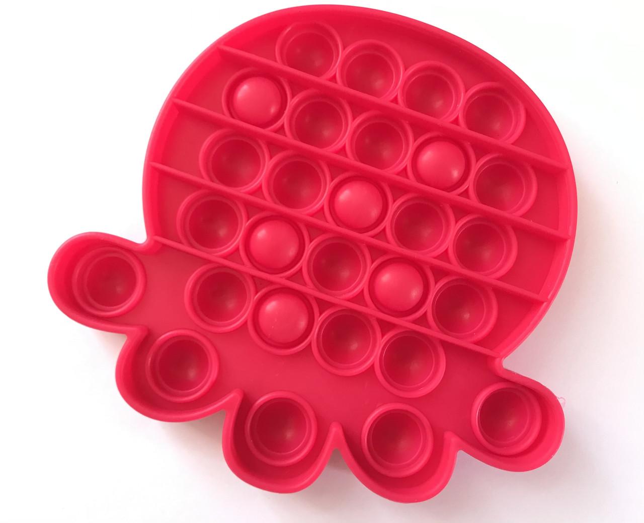 Pop It сенсорная игрушка, пупырка, поп ит антистресс, pop it fidget, попит, малиновый осьминог