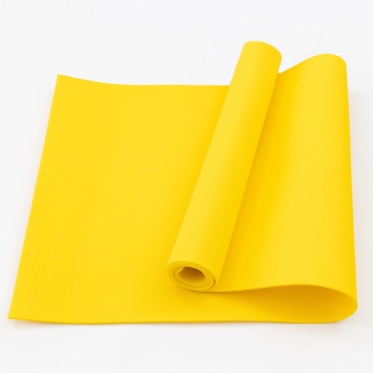Килимок (каремат) для йоги, фітнесу, танців OSPORT Колібрі (FI-0077) Жовтий