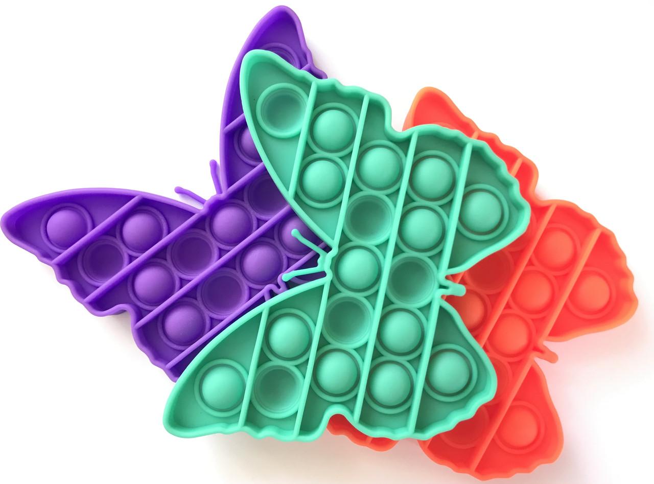 Pop It сенсорная игрушка, пупырка, поп ит антистресс, pop it fidget, попит, бабочка