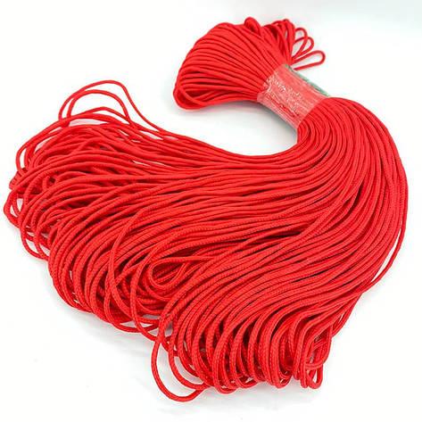 Шнур с сердечником для вязания 3 мм 100 м красный, фото 2