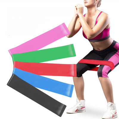 Гумка для фітнесу та спорту Esonstyle (еластична стрічка еспандер) набір 5 шт в комплекті