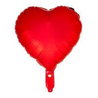 """Воздушный шар из фольги """"Сердце красное"""" для гелия\воздуха 18"""", 45см"""