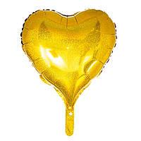 """Воздушный шар из фольги """"Большое сердце"""" для гелия\воздуха 22"""", 60см"""