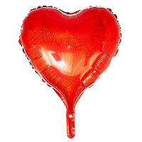 """Надувной шар из фольги """"Большое сердце"""" для гелия\воздуха 22"""", 60см"""