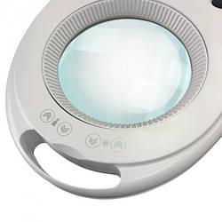 Лампа с лупой и регулировками (холодный/теплый свет) Led 6027К (3D 1-12W) для косметолога