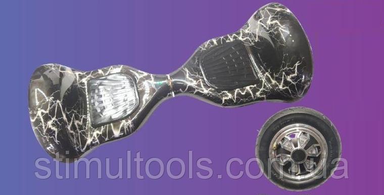 """Гироскутер EL-5-МП 10"""" Черная Молния (Алюминиевые колеса с подсветкой)"""