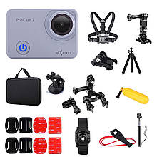 Набор лыжника 35 в 1 : экшн-камера AIRON ProCam 7 Touch с аксессуарами